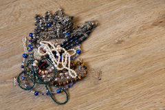 Jewellery in a pile Royalty Free Stock Photos