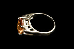 Jewellery ring isolated Stock Photography