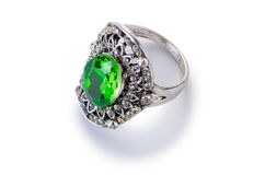 The jewellery ring isolated on the white Royalty Free Stock Image