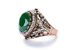 The jewellery ring isolated on the white Royalty Free Stock Photo