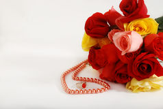 Jewellery & rose Royalty Free Stock Photography