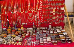 Jewellery for sale on the stall Royalty Free Stock Photo