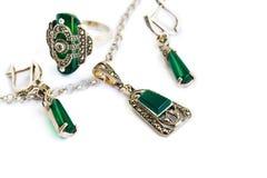 Jewellery set stock photos