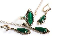 Jewellery set stock photo