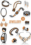 Jewellery silhouettes 2 Royalty Free Stock Image