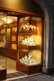 jewellery sklepu okno zdjęcia royalty free