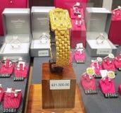 Jewellery sklepu okno pokaz Obrazy Royalty Free