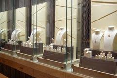 Jewellery sklepu wnętrze Zdjęcia Stock