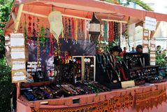 Jewellery Stall, Barbate. Royalty Free Stock Image