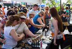 Jewellery stand at Taste of Danforth Toronto Royalty Free Stock Photography