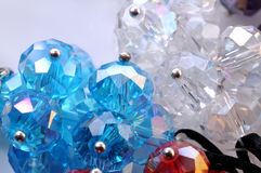 Jewellery stones. Closeup shot of jewellery stones in a fashionable necklace stock photo