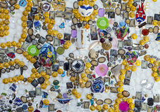 Jewellery on the Wall Royalty Free Stock Photos