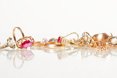 Jewellery on the white background Stock Image