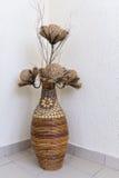Jewellery wicker basket with dry plants Stock Photography