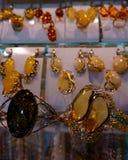 Jewellery z bursztynem dla kobiet fotografia royalty free
