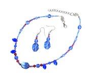 Jewellry - collier et boucles d'oreille Images stock