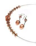 Jewellry - halsband en oorringen stock afbeeldingen