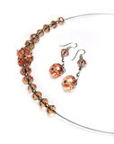 Jewellry - Necklace And Earrings Stock Images