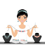 Jewellry woman Stock Photo