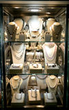 Jewelries, shop exhibition. Royalty Free Stock Image