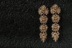 jewelry Длинные серьги с камнями Стоковое фото RF