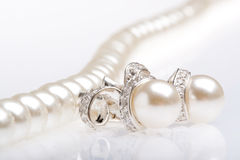 Jewelry. On a white background Royalty Free Stock Photo
