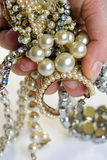 Jewelry. Pile of bling stock images