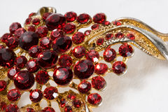 Jewelry. Macro of Jewelry made of Red Crystals Royalty Free Stock Image
