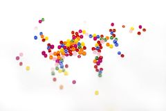Jewelry. Small plastic beads for jewelry and decoration Royalty Free Stock Photo