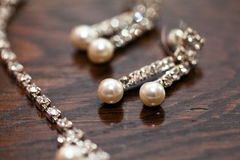 Jewelry. A set of pearl jewelry Stock Photo