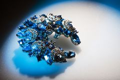 Jewelry. In blue tint. High contrast stock images