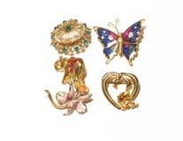 Jewelry. Closeups of jewelry on white background Stock Photo