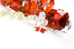 Jewelry. Crystals of different colors Stock Images