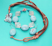 Jewelry. A set of turquoise jewelry Stock Photography