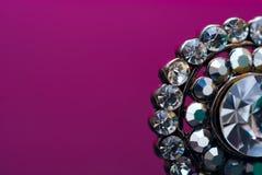 Jewelry. Retro jewelry on purple background Stock Image