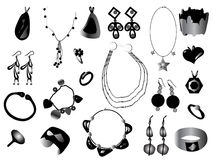 Jewelry. Vector illustration of different jewelry royalty free illustration