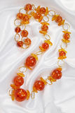 Jewelry of amber Royalty Free Stock Image