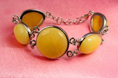 Jewelry amber bracelet Royalty Free Stock Photography