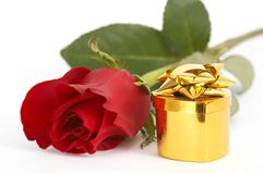 Jewelry And Red Rose Royalty Free Stock Images