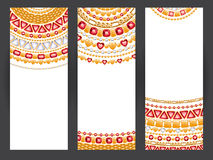 Jewelry banners. Golden chains with rubies. Royalty Free Stock Photo