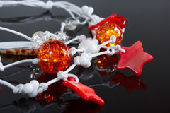 Jewelry, beads of a dark background, neckl Royalty Free Stock Photography