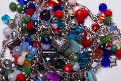 Jewelry beads and pendants - mixed Royalty Free Stock Photos
