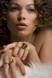 Jewelry and Beauty Stock Image