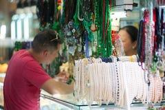 Jewelry Ben Thanh market, Saigon, Vietnam Royalty Free Stock Photography