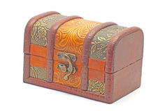 Jewelry box. Small jewelry box  on white background Royalty Free Stock Image
