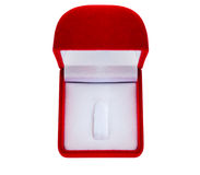 Jewelry box. Red empty jewelry box in white background Stock Image