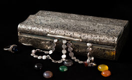 Jewelry box. Box for jewelry and gemstones Royalty Free Stock Images