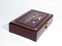 Jewelry box. Woden Jewelry box for storing jewelry stock photography
