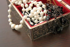Jewelry in a box Royalty Free Stock Image