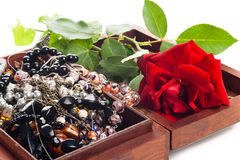 Jewelry in box Royalty Free Stock Photo